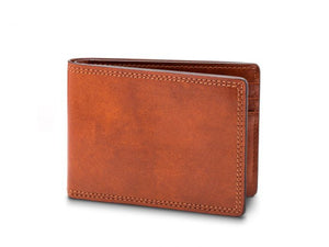 SMALL BIFOLD WALLET IN AMBER DOLCE LEATHER