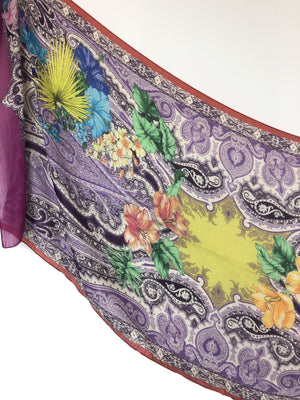 ETRO PAISLEY AND FLOWER PRINT SCARF - 2 COLOR OPTIONS