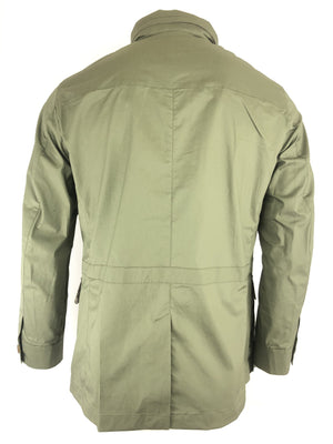 LUCIANO BARBERA TECHNO MEN'S FIELD JACKET - OLIVE