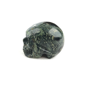 BUTTON DOWN CARVED STONE SMALL SKULL - KAMBADA JASPER