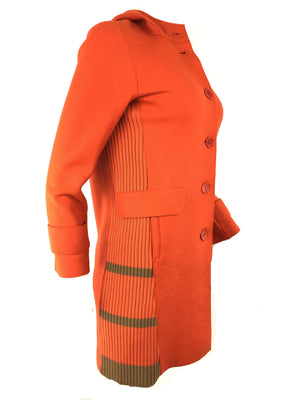 ROSSO 35 ORANGE HOODED WOMEN'S OVER COAT