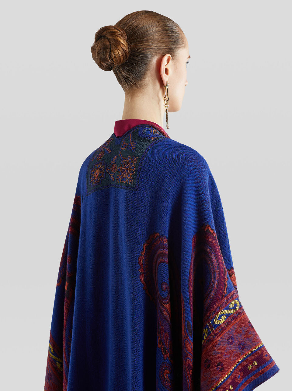 ETRO ROYAL BLUE CAPE