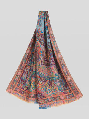 ETRO FLORAL PAISLEY CASHMERE AND SILK SCARF - 2 COLOR OPTIONS