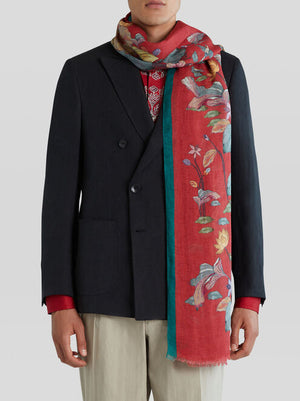 ETRO WATER LILY AND TIGER SCARF - 2 COLOR OPTIONS