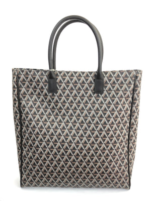 SIGNATURE PRINT LARGE BROWN OFFICE BAG