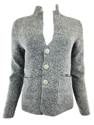 TONET REVERSIBLE PLAID BLAZER IN CEMENT/GRAPHITE