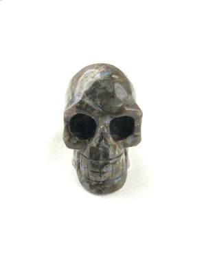 BUTTON DOWN CARVED STONE MEDIUM SKULL - QUE SERA
