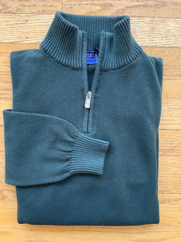 Half Zip Turtle Neck Sweater (4582444859469)