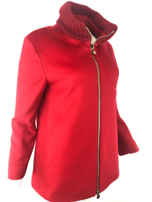 CINZIA ROCCA SHORT KNIT TRIM JACKET - 2 COLOR OPTIONS