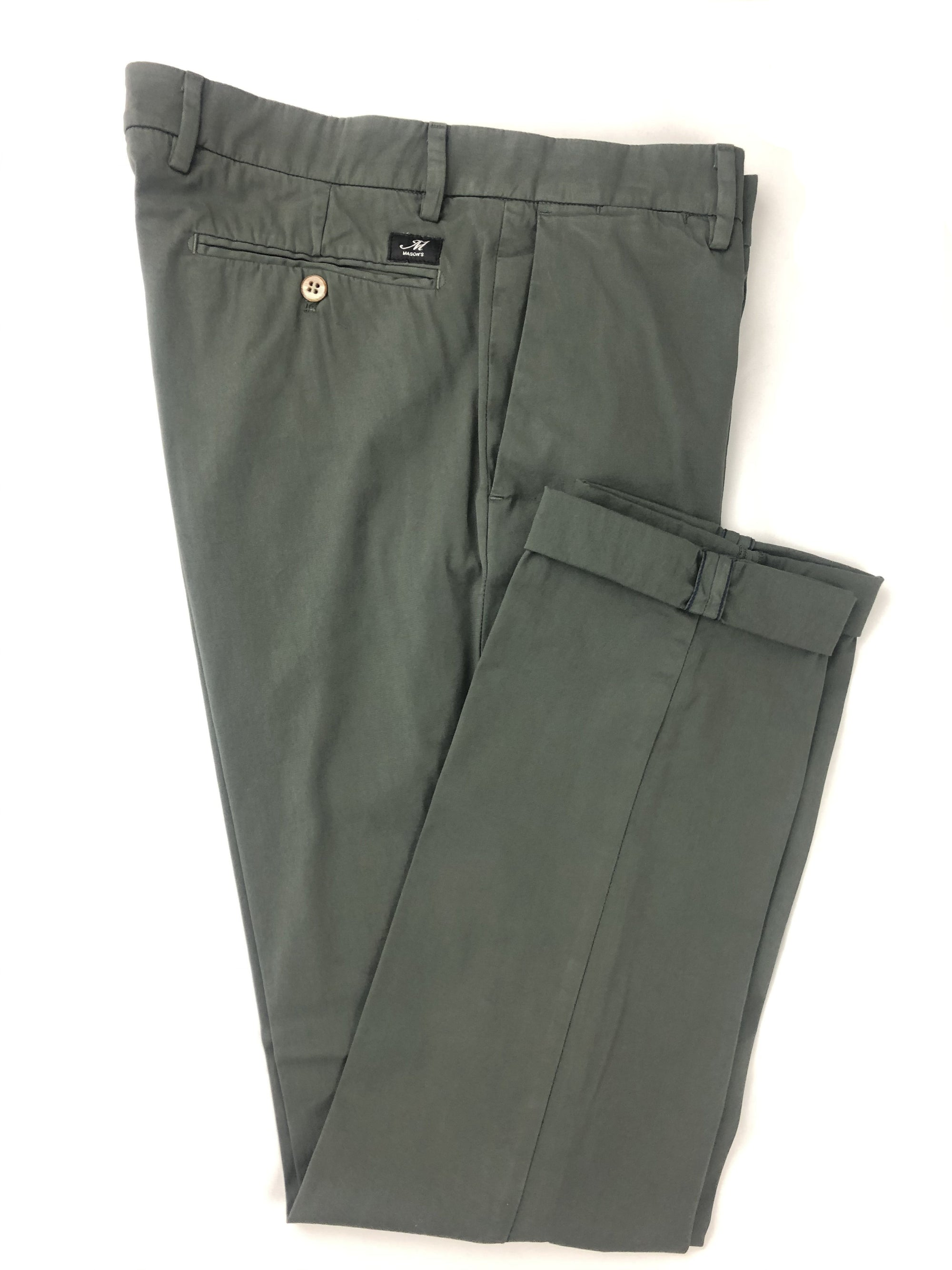 MASON'S MEN'S CHINO PANTS - DARK OLIVE