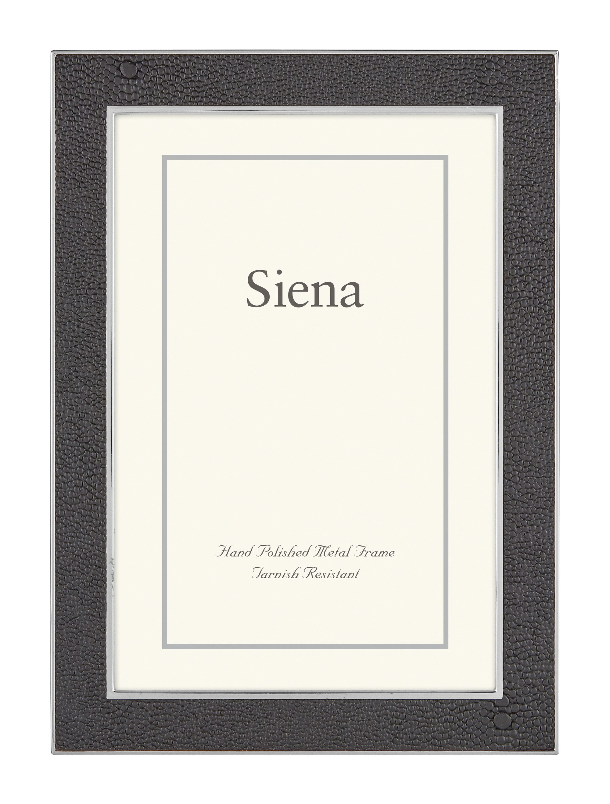 TIZO SHAGREEN SIENA SILVERPLATE FRAME - BLACK