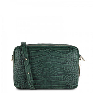 LANCASTER EXOTIC CROCO SOFT CROSS BODY BAG