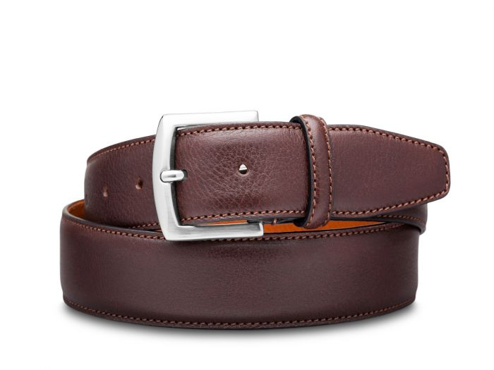 BOSCA 1911 CASTELO LEATHER BELT - BROWN