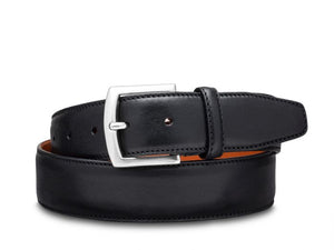 BOSCA 1911 CASTELO LEATHER BELT - BLACK