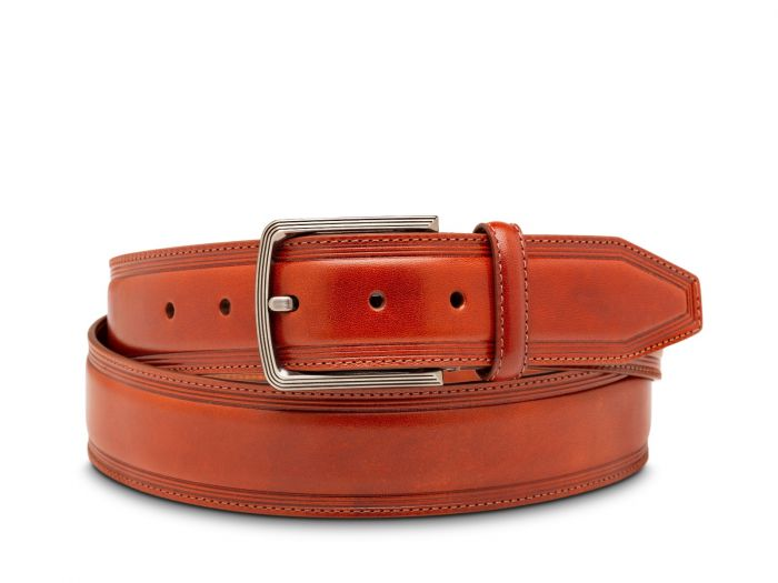 BOSCA 1911 SORRENTO LEATHER BELT - COGNAC
