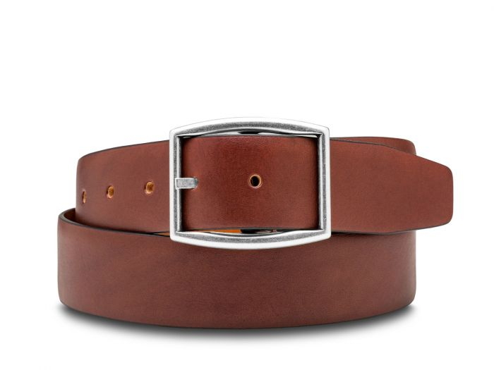 BOSCA 1911 CAPRI LEATHER BELT - BROWN