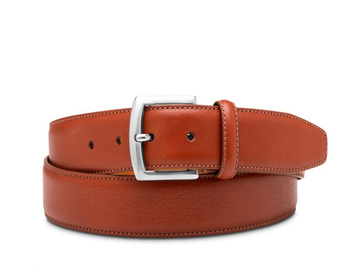 BOSCA 1911 ARZANO LEATHER BELT - COGNAC