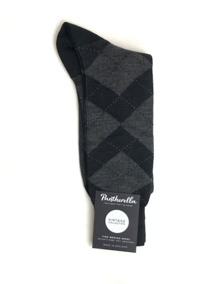 PANTHERELLA ABDALE TARTAN PLAID MEN'S MERINO WOOL SOCK - 2 COLOR OPTIONS