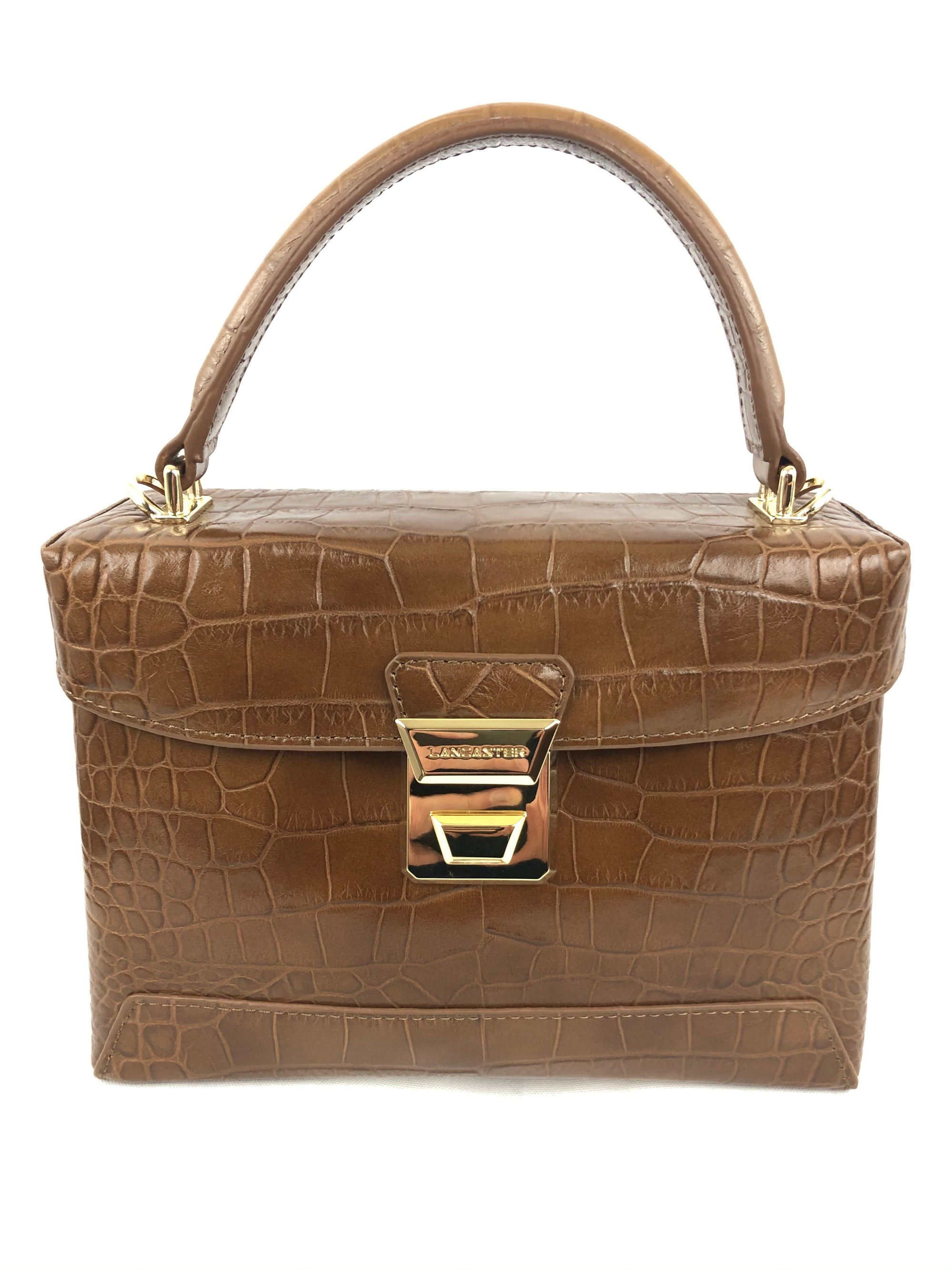 LANCASTER CROCO SHOULDER BAG - 2 COLOR OPTIONS