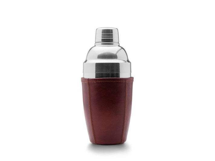 BOSCA 1911 LEATHER HOLLYWOOD COCKTAIL SHAKER