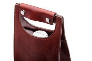 BOSCA 1911 LEATHER TRAVEL & GIFT WINE BOTTLE BAG