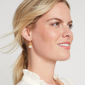 CHLOE PEARL HOOP & CHARM EARRINGS (4665906200653)