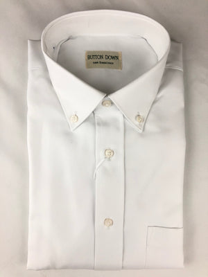 BUTTON DOWN WHITE OXFORD MEN'S SHIRT