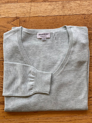BASIC COTTON BLEND V-NECK SWEATER - 4 COLOR OPTIONS