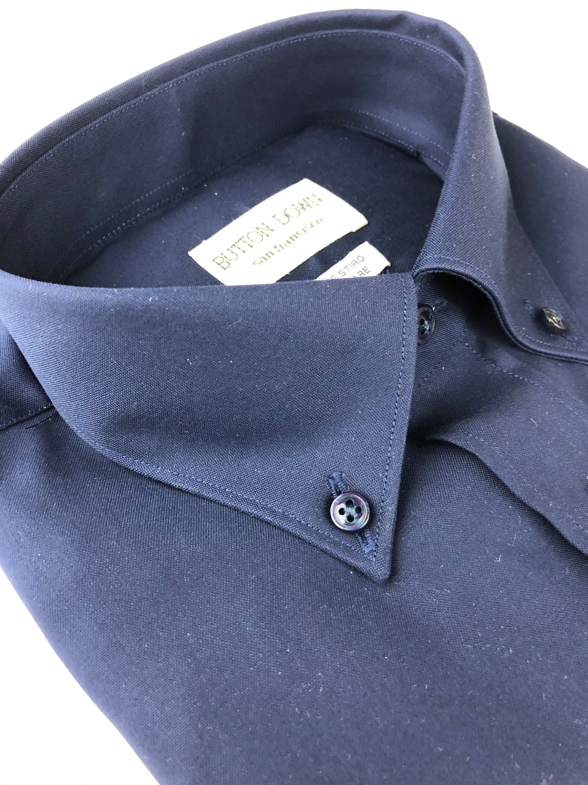 BUTTON DOWN SOLID NAVY MEN'S SHIRT