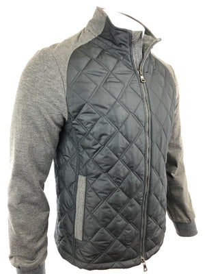 WATERVILLE MEN'S QUILTED JACKET WITH KNIT SLEEVES