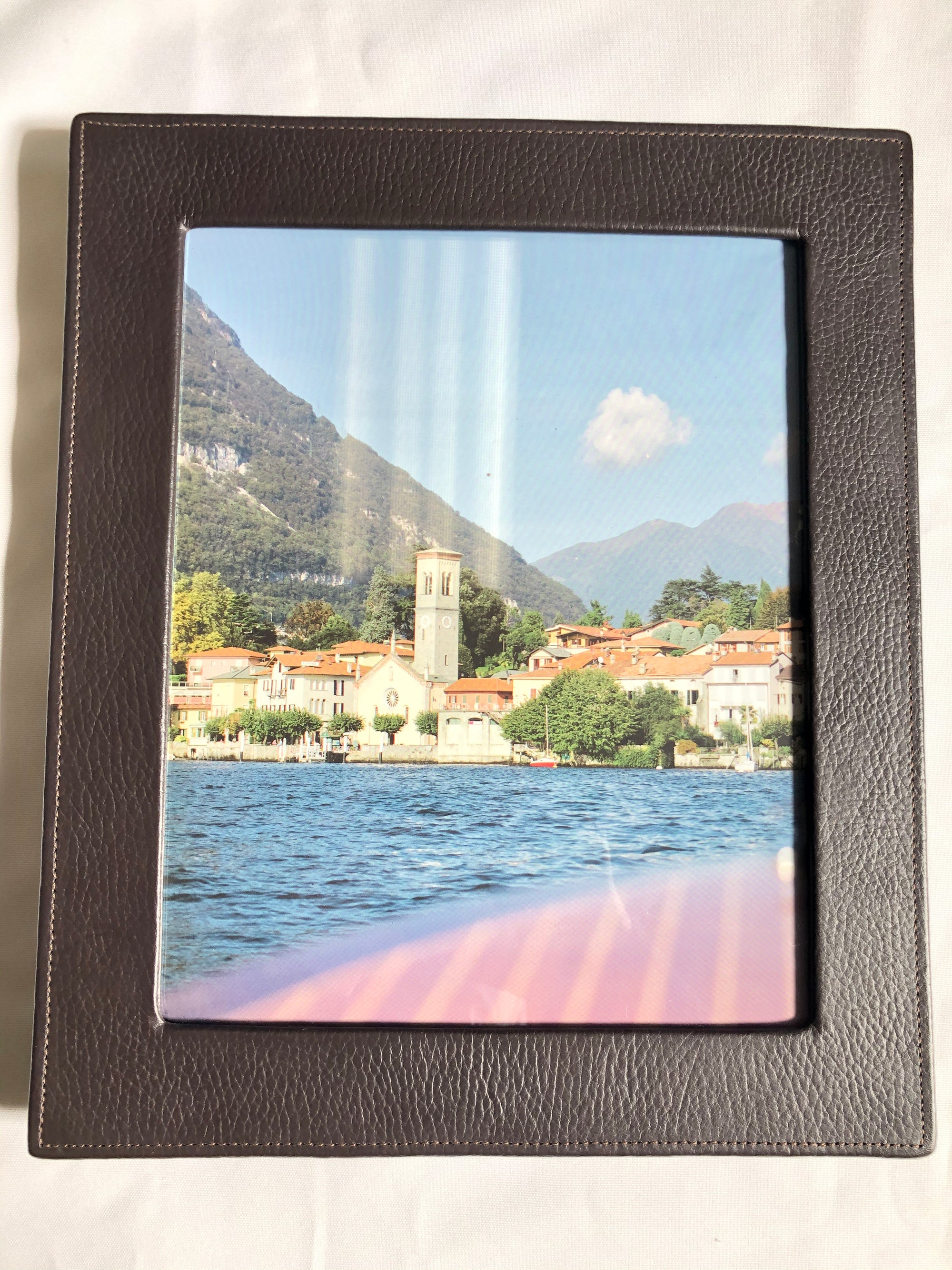 RAIKA LEATHER 8x10 FRAME - BROWN