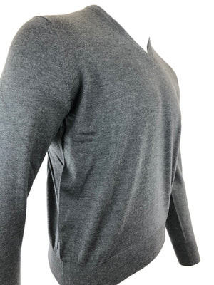 BUTTON DOWN MEN'S MERINO WOOL V-NECK SWEATER - 3 COLOR OPTIONS