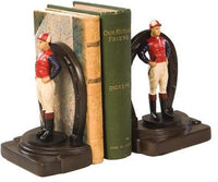 JOCKEY AND HORSESHOE BOOKENDS (4596537950285)