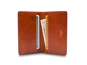 CALLING CARD CASE WALLET IN AMBER DOLCE LEATHER