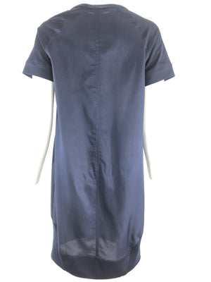 TONET SHORT SLEEVE NAVY DRESS