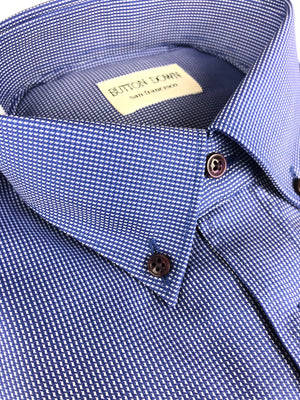 BUTTON DOWN BLUE PANAMA MEN'S SHIRT