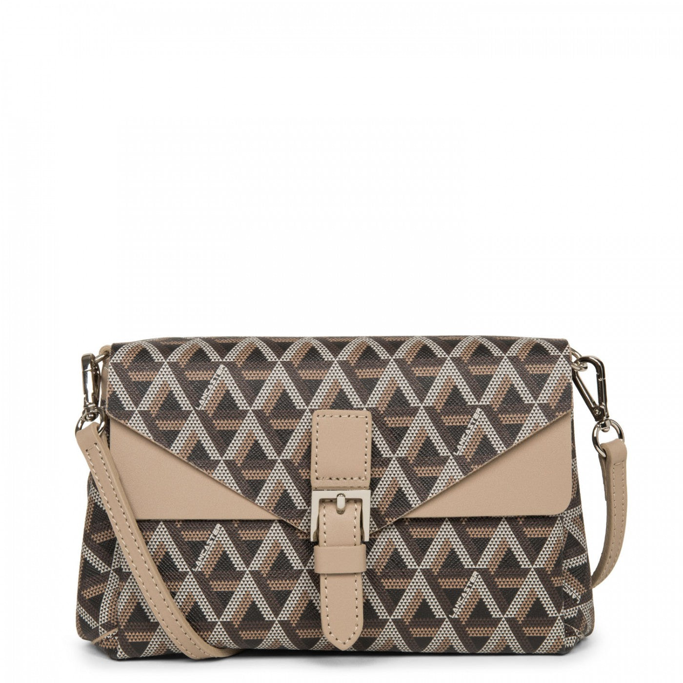 LANCASTER IKON SMALL CROSSBODY BAG - BROWN