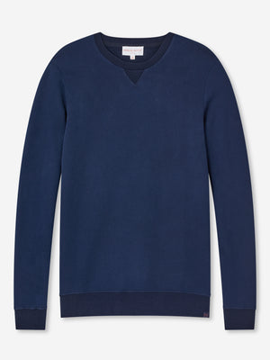 DEREK ROSE DEVON MEN'S SWEATSHIRT - NAVY