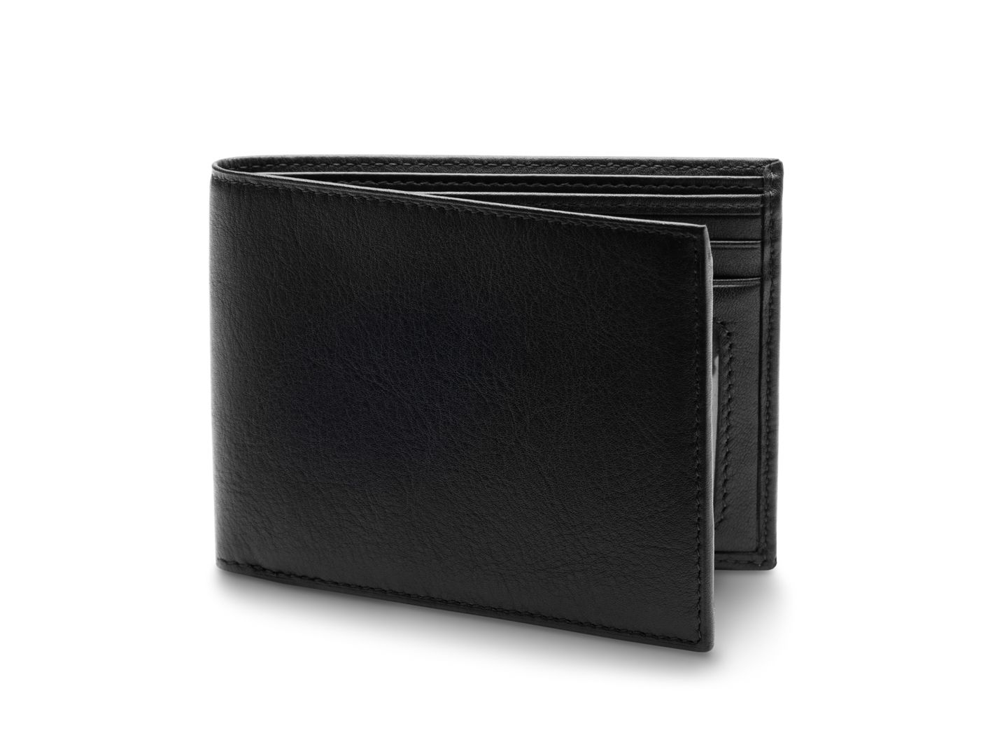 BOSCA 1911 EXECUTIVE I.D. WALLET IN BLACK DOLCE LEATHER