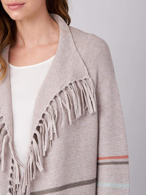 STRIPED CARDIGAN WITH FRINGES (4588724191309)