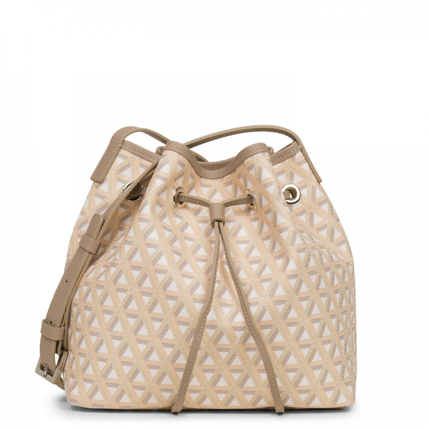 LANCASTER IKON BUCKET BAG - BROWN