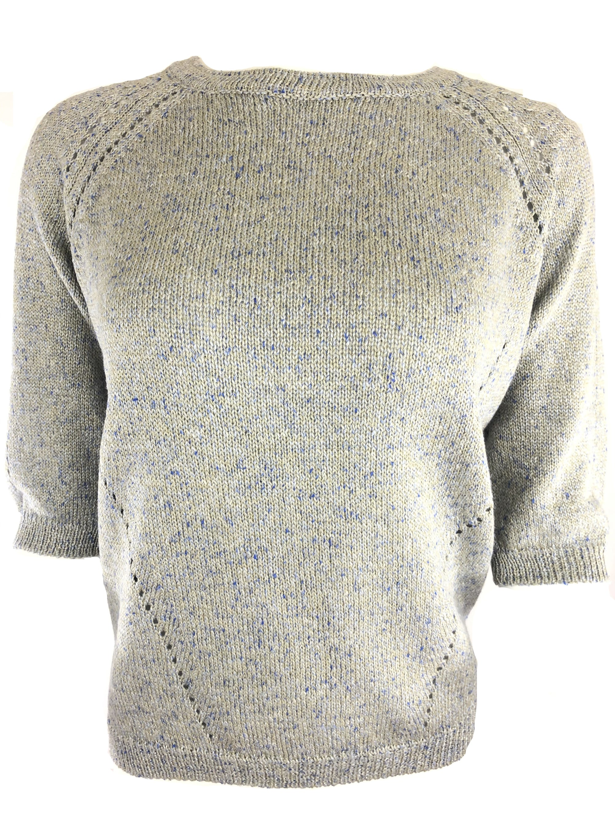 TONET CREW NECK CABLE RIB SWEATER