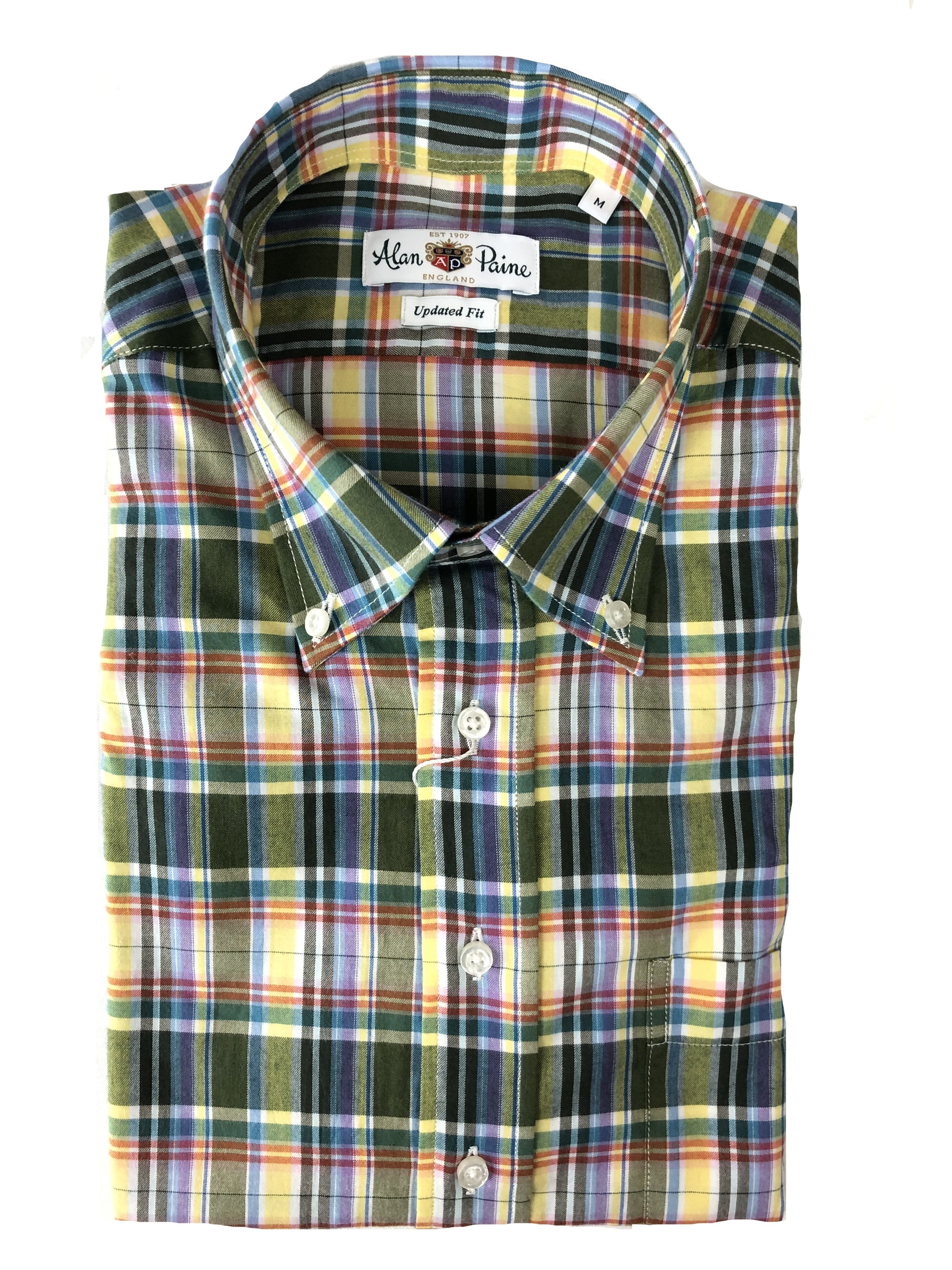 ALAN PAINE FALL PLAID MODERN FIT SPORT SHIRT - 4 COLOR OPTIONS