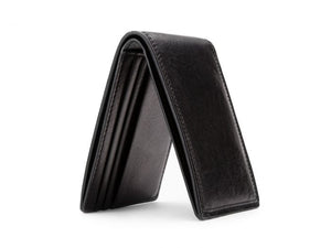 SMALL BIFOLD WALLET IN BLACK DOLCE LEATHER
