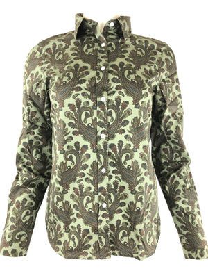 PAISLEY WOMEN'S SHIRT - GREEN