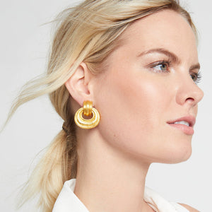 JULIE VOS BARCELONA DOORKNOCKER CLIP EARRINGS