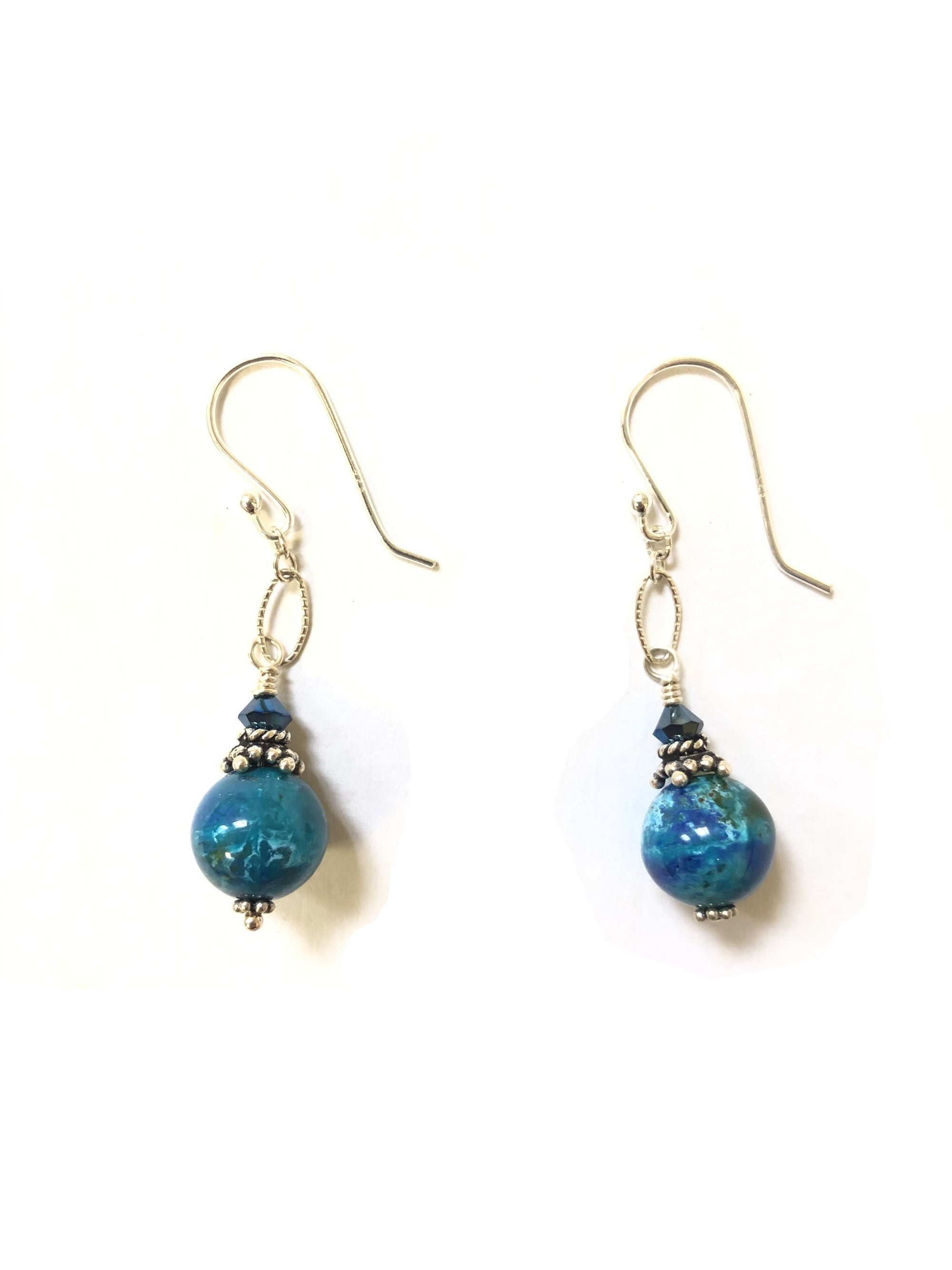 DARIA PAINTER LAPIS BEAD EARRINGS