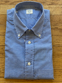 Men's Mid-Blue Check Shirt