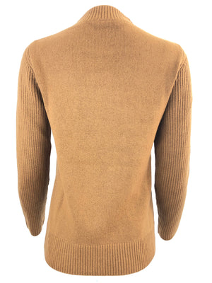 MOCK NECK CASHMERE WOMEN'S TUNIC - VICUNA