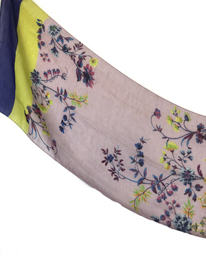 ETRO FLORAL PAISLEY LINEN AND SILK SCARF - 2 COLOR OPTIONS